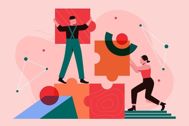 People build business process concept