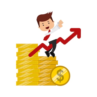 People business finance icon design