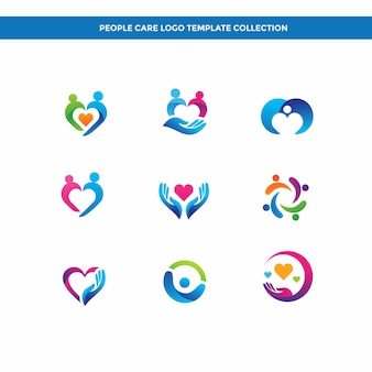 People Care Logo Template Collection