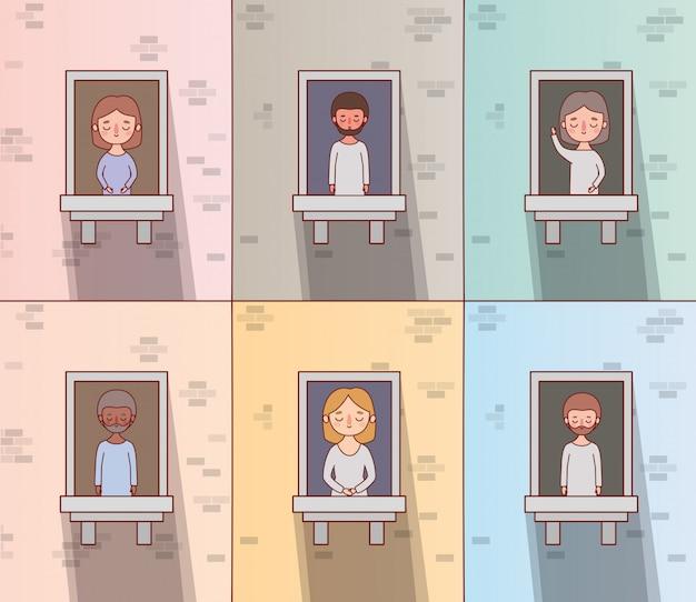 Windowsデザインで人の漫画