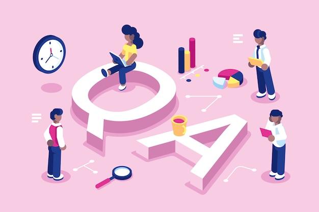 Люди, улавливающие ошибки, работа команды по обеспечению качества, большие письма qa.