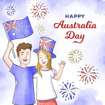 People celebrating australian day