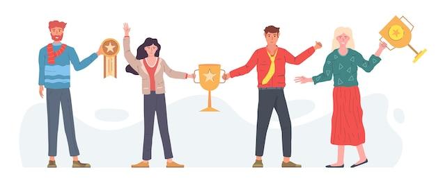Persone che celebrano il raggiungimento di un obiettivo