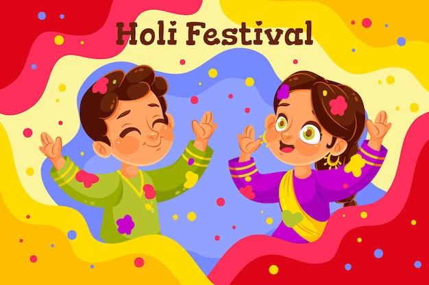 Persone che celebrano il festival di holi