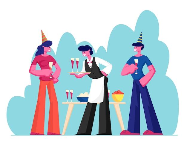 파티를 축하하는 사람들
