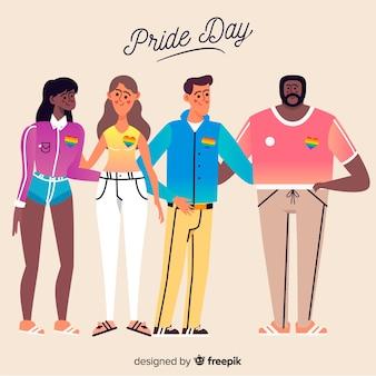 People celebrating pride day