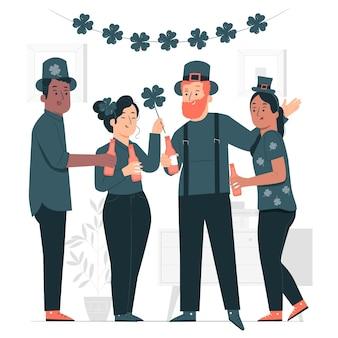 Persone che celebrano st. illustrazione di concetto di giorno di patrick