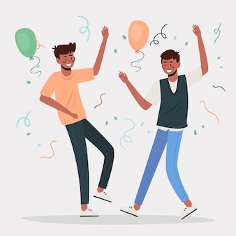 People celebrating together concept