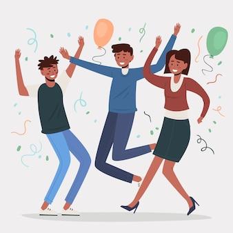 People celebrating together concept