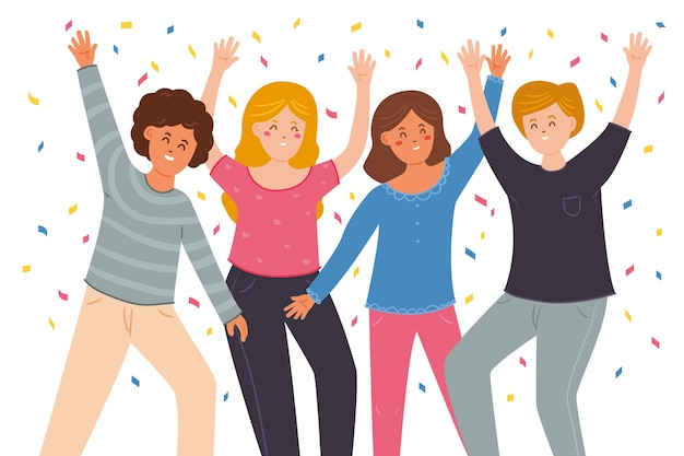 People celebrating together