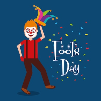 People celebration fools day
