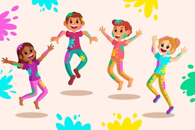 Народный праздник холи фестиваля тема