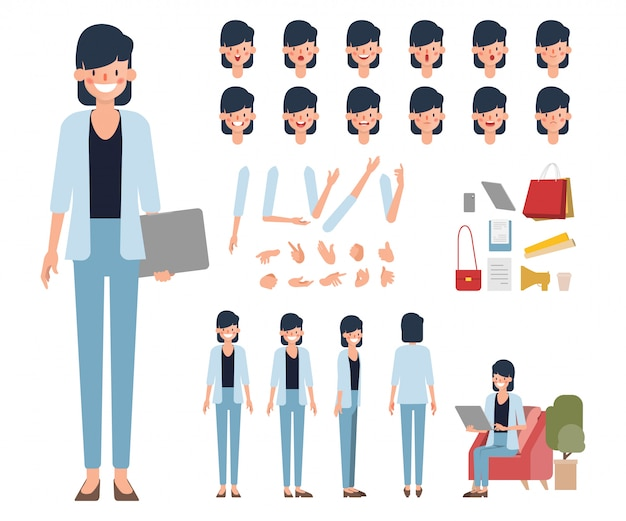 People character creation design animated.