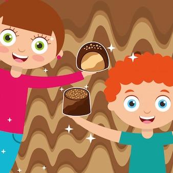 Люди шоколадные конфеты