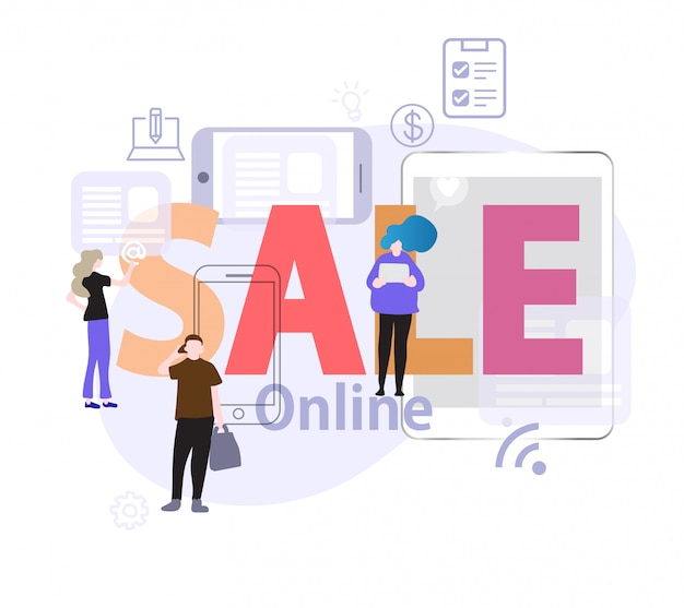 People choose to buy sale online