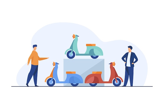 People choosing scooter for rent