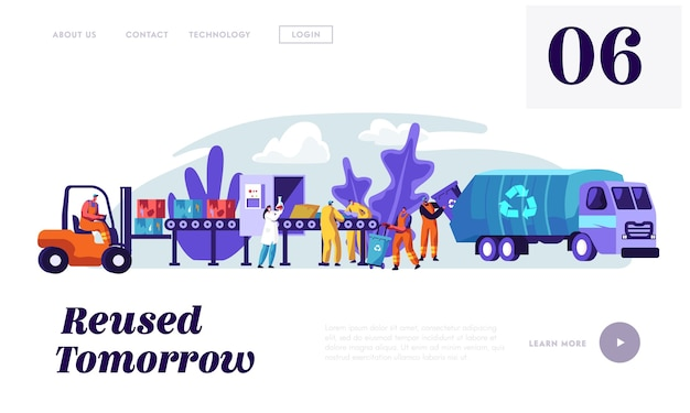 People cleaning trash to reduce littering landing page.