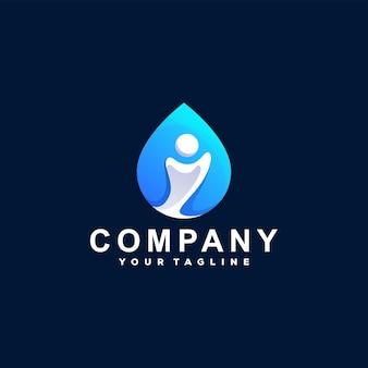 Дизайн логотипа градиента цвета людей