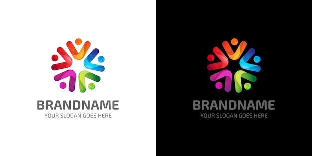 People colorful logo template