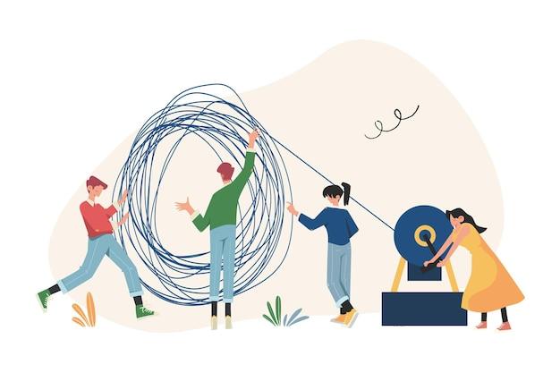 아이디어, 문제 해결을위한 사람들의 커뮤니케이션