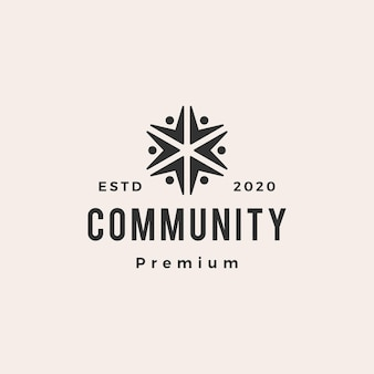 People community hipster vintage logo