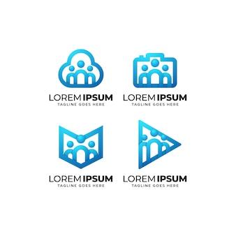 People community logo design set