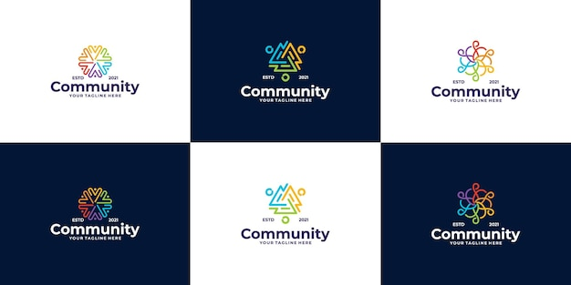 People and community logo design for teams or groups