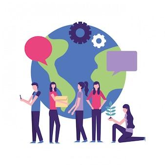 People community work activity world
