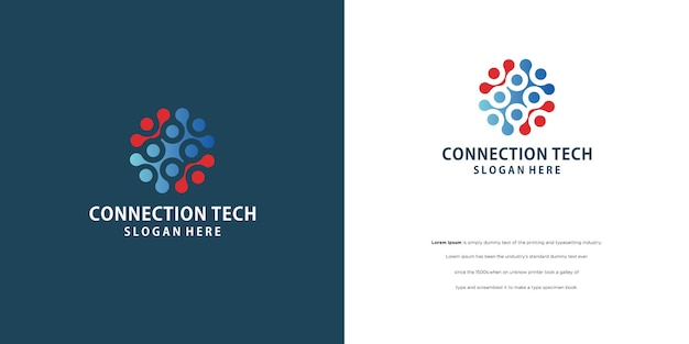 People connected logo, communication, family, social care, children, sports, vector symbolic sign