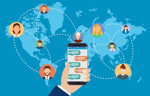 People connecting all over the world.