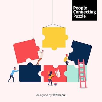 퍼즐 조각을 연결하는 사람들