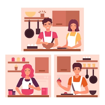 人の料理のコンセプト