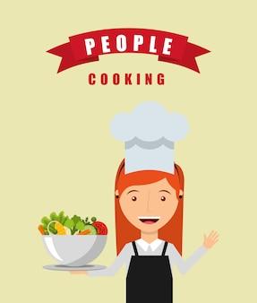 People cooking design