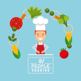 People cooking design