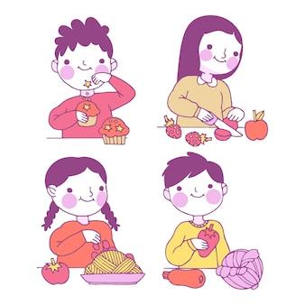 人料理イラスト