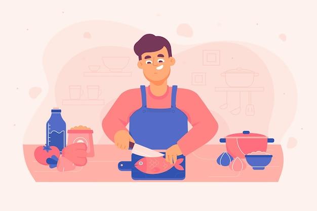요리하는 사람들