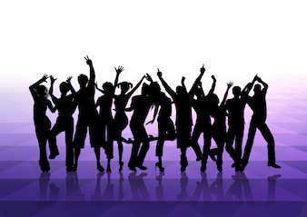 People dancing background