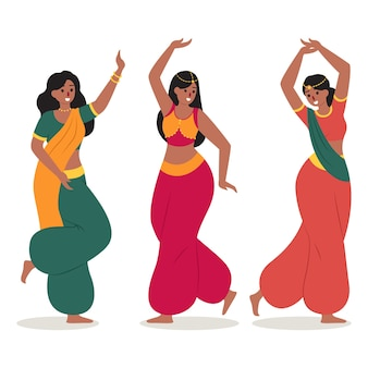 People dancing bollywood concept