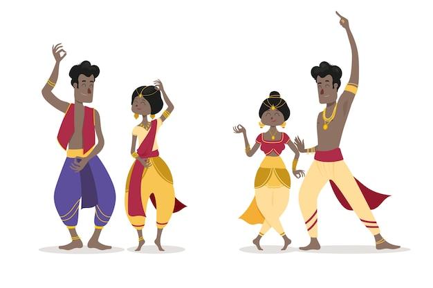People dancing bollywood