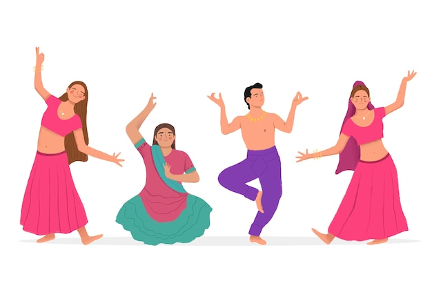 People dancing bollywood