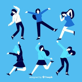 People dancing collection