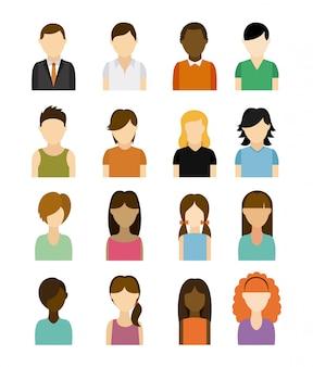 People design over white background vector illustration