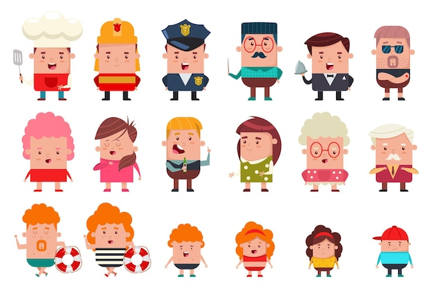 People of different occupations and ages