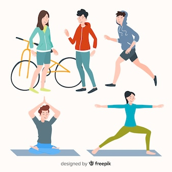 People Doing Excercise