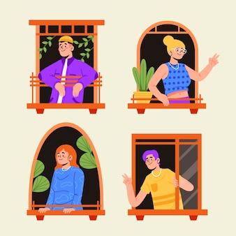 Persone che svolgono attività ricreative sul balcone