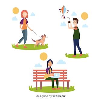People doing outdoor activities