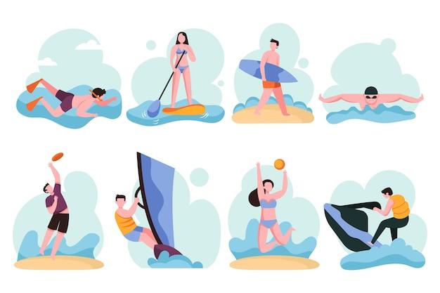 Le persone che fanno sport estivi
