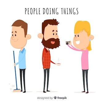 People doing things collection