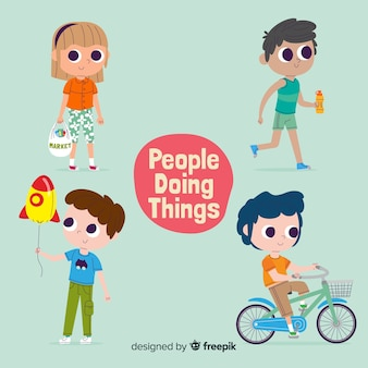 People doing things