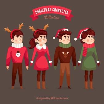 크리스마스를 입은 사람들